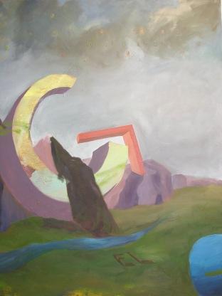The Big G, oil on canvas, Selma-Rachel Swire