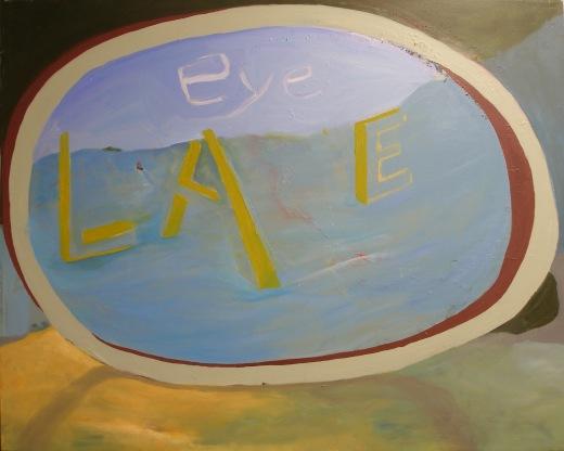 Eye Lake by Selma-Rachel Swire, oil on canvas